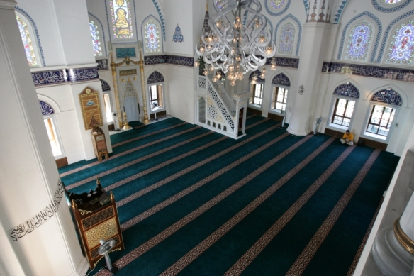 Inside the masjid